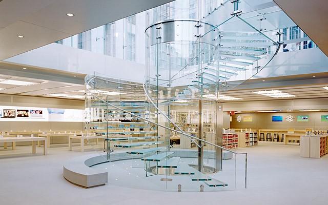 Glazen trap Apple store New York