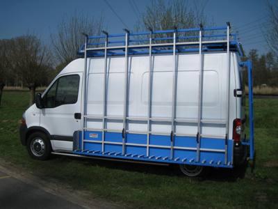 Resteelwagen voor glas