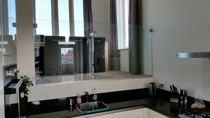 Interieur glas - Afscheiding glas keuken woonkamer ...
