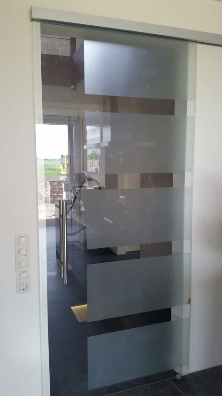 Deuren van glas glazen binnendeuren for Keuken beslag