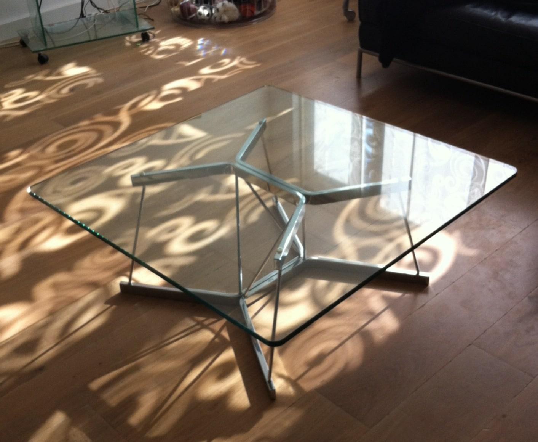 Vierkante Salontafel Met Afgeronde Hoeken.Glazen Tafelblad Inspiratie Werk Glasbestellen Nl