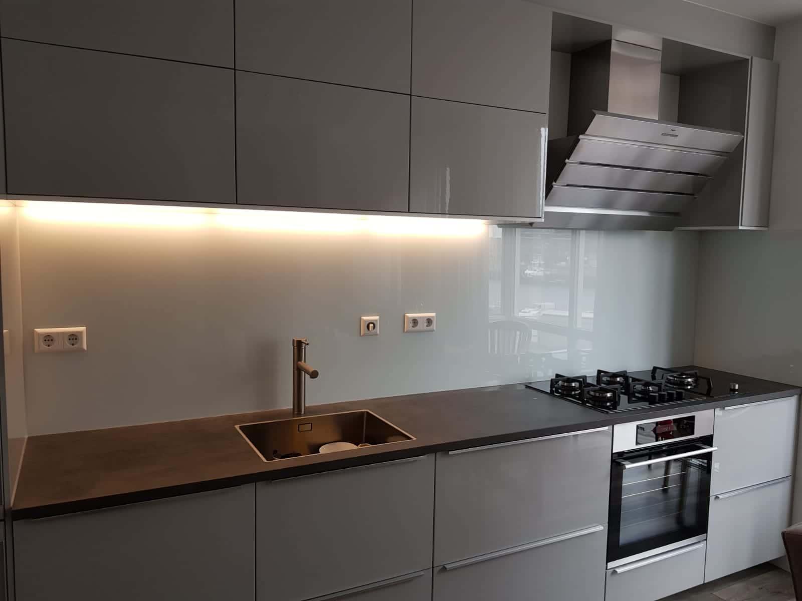 Keuken achterwand inspiratie werk glasbestellen.nl
