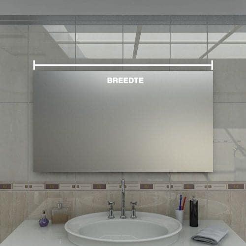 led spiegel breedte
