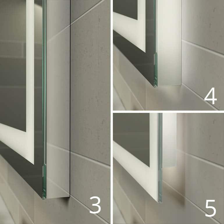 zij afdichtingen led spiegel aluminium en kunststof